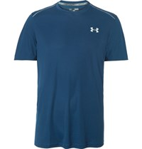Under Armour Mesh Panelled Coolswitch T Shirt Navy