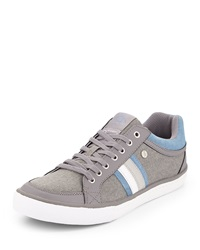 Penguin Thaw Striped Side Canvas Sneaker Gray Washed