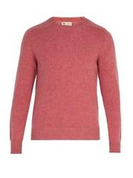 Connolly Crew Neck Wool Blend Sweater Pink
