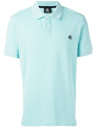 Paul Smith Ps By Logo Embroidered Polo Shirt Blue