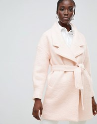 Selected Femme Wrap Wool Coat Pink
