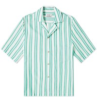 Acne Studios Simon Stripe Tex Vacation Shirt Green