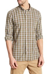 Victorinox Long Sleeve Plaid Tailored Fit Shirt Green