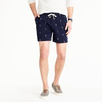 J.Crew Sweatshort In Embroidered Lighthouses