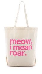 Dogeared Meow I Mean Roar Tote