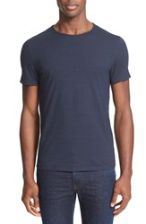 John Varvatos Men's Collection Slub Pima Cotton T Shirt Indigo