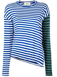 Ports 1961 Contrast Stripe Jumper Blue