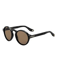 Givenchy Round Acetate Sunglasses Black