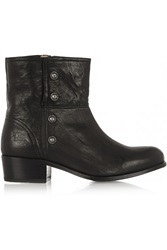 Frye Lynn Military Studded Leather Ankle Boots