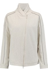Brunello Cucinelli Embellished Cotton Jersey Sweatshirt Ecru