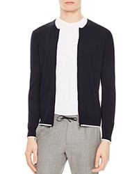 Sandro Border Cardigan Navy Blue