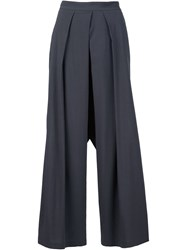 Isabel Benenato Wide Leg High Waisted Trousers Grey