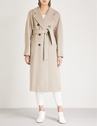 Max Mara Madame Double Breasted Wool And Cashmere Blend Coat Cacha