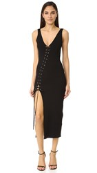 Torn By Ronny Kobo Angelina Ribbed Dress Black