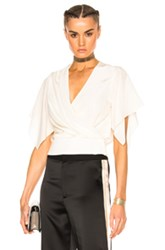 Lanvin Cross Over Top In Neutral White Neutral White