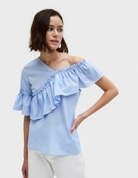 Farrow Turner Top Blue Stripe