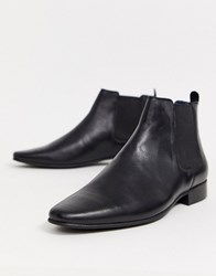 Kg By Kurt Geiger Leather Chelsea Boot In Black