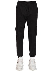 Juun.J Cotton Canvas Cargo Pants Black