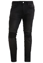 Religion Cavern Slim Fit Jeans Washed Black Dark Grey
