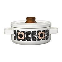 Orla Kiely Enamel Scribble Square Flower Casserole Pot Medium Rose Tint
