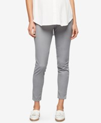 A Pea In The Pod Maternity Ankle Pants Light Gray