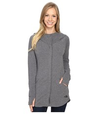 The North Face Wrap Ture Full Zip Jacket Tnf Medium Grey Heather Women's Coat Gray