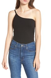 Project Social T Love Is One Shoulder Camisole Black