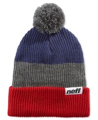 Neff Snappy Ombre Striped Beanie Red Grey N
