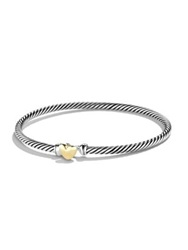 David Yurman Cable Collectibles Heart Bracelet With Gold Silver