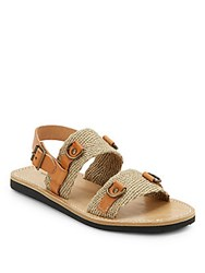 Etoile Isabel Marant Leather And Burlap Sandals Natural
