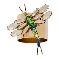 Joanna Buchanan Dragonfly Napkin Ring Set Of 4 Opal