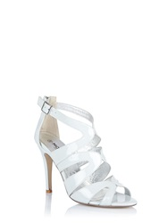 Morgan Strappy High Heeled Sandals With Buckles Blue