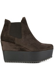 Pedro Garcia Wedged Ankle Boots Brown