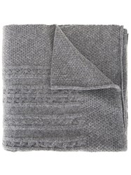 Inverallan Cable Knit Scarf Grey