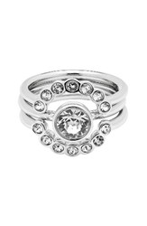 Ted Baker Women's London 3 Pack Concentric Crystal Rings