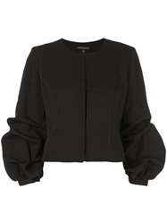 Alberto Makali Cropped Ruched Sleeves Jacket Black