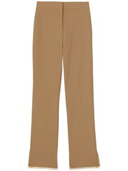 Burberry Ring Pierced Tailored Trousers Neutrals