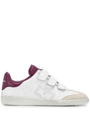 Isabel Marant Touch Strap Sneakers White