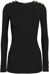 Balmain Embellished Wool And Cashmere Blend Sweater Black