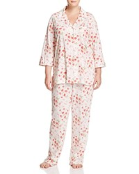 Ralph Lauren Plus Classic Pajama Set Cream Floral
