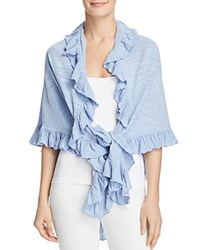 Minnie Rose Ruffled Shawl Wedgewood