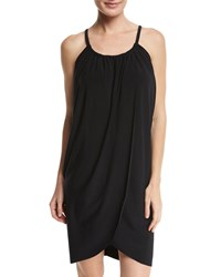 Magicsuit Draped Jersey Coverup Dress Black