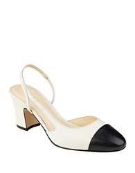 Ivanka Trump Liah Suede Slingback Pumps Black White