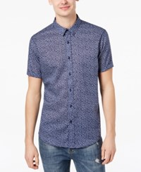 American Rag Men's Scattered Triangles Shirt Created For Macy's Admiral