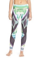 Women's Onzie Graphic Long Leggings Palm Sunset
