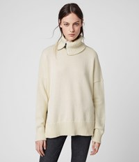 Allsaints Witby Zip Jumper Chalk White