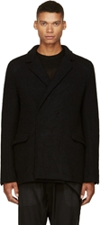Thamanyah Black Wool And Cashmere Belted Dislocated Jacket