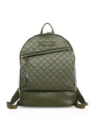 Want Les Essentiels Quilted Polyester And Leather Backpack Green