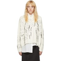 Mcq By Alexander Mcqueen Off White Swallow Sweater