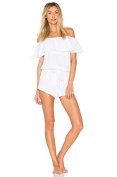Eberjey Lucia Off Shoulder Teddy White